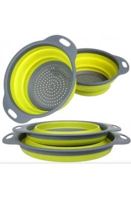 Дуршлаг силиконовый складной большой маленький Collapsible filter baskets SKL11-276426